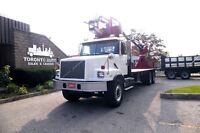 2001 Volvo VE Tandem 22ft  flatbed with crane and remote control