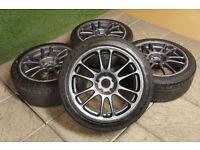 "Genuine A-Tech Final Speed 17"" Alloy wheels 5x114.3 JDM Drift Nissan S14 Skyline MR2 EVO"