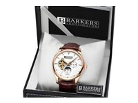 BNIB, never been used Barkers of Kensington Automatic Rose Gold Ltd Model No. 6826 Mens watch.
