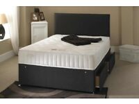 Complete Ortho Set! Brand new double or king divan bed base with White Orthopedic mattress