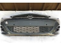 VAUXHALL ASTRA IV J FRONT BUMPER IN GREY PDC 2011-2015