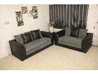 "Quality Sofas"""" Brand New Byron 3 And 2 sofa or corner sofa in jumbo cord fabric"