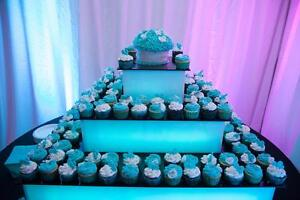 LED Display Stand / Cup Cake CupCake Stand Rent FREE DELIVERY