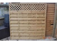 Grange 6ft High Wooden Elite Garden Fence Panel