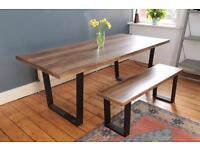 Stunning Next table and bench with fenwick chairs