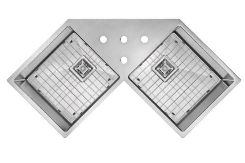 corner sink vier de coin vier sous planjau ge 16 grilles libres exp dition gratuite assur e. Black Bedroom Furniture Sets. Home Design Ideas