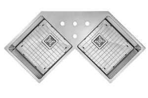 CORNER Sink |évier de coin|évier sous planjau|ge 16|grilles libres|Expédition gratuite assurée|