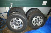 4 tires and rims 235 75r 15