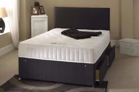 🔥💥FREE DELIVERY❤❤BRAND NEW Double or Kingsize Divan Bed W/ Dual-Sided 10 INCH Orthopaedic Mattress