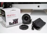 Samyang 12mm F.2.0 Sony E Mount Ultra Wide Lens