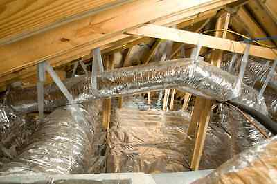 500 Sqft Reflective Radiant Barrier Attic Foil Insulation 25.5 Perf Rafter Cut