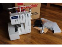 Brother Overlocker Sewing Machine 929D 4 thread Compact Used Once Boxed