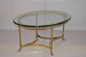 TABLES A CAFÉ EN LAITON ET VITRE - VINTAGE- BRASS & GLASS COFFEE TABLES