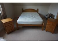 Double Bed and Two Bedside Cabinets