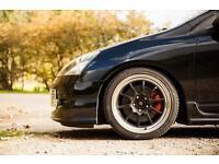 """Honda Civic type r Rota gt3 17"""" black with chrome lip rota torques ep3 ep2 dc5"""