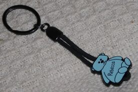 NEW Key Ring with Rebecca Named Blue Teddy Bear Pendant, Histon