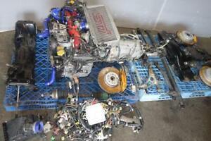 JDM Subaru Impreza WRX STi GDB V7 EJ207 EJ20 DOHC AVCS Turbo Engine Motor 6speed Transmission Brembo Control Arms Cross