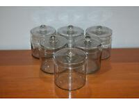6 Glass Kitchen / Crafts Storage Jars