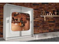 Chelsea 2 Door Mirror Sliding Bedroom Wardrobe-Cash on Delivery-Fast Delivery