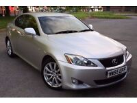 2005 (55) LEXUS IS 250 SE, PETROL, 6 SPEED MANUAL, 4 DOORS SALOON, LONG MOT, LEATHER, DVD, AND MORE