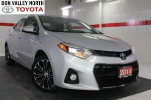 2014 Toyota Corolla S MANUAL Sunroof Heated Lther Btooth BU Cam