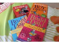 Four roald Dahl and David walliams books
