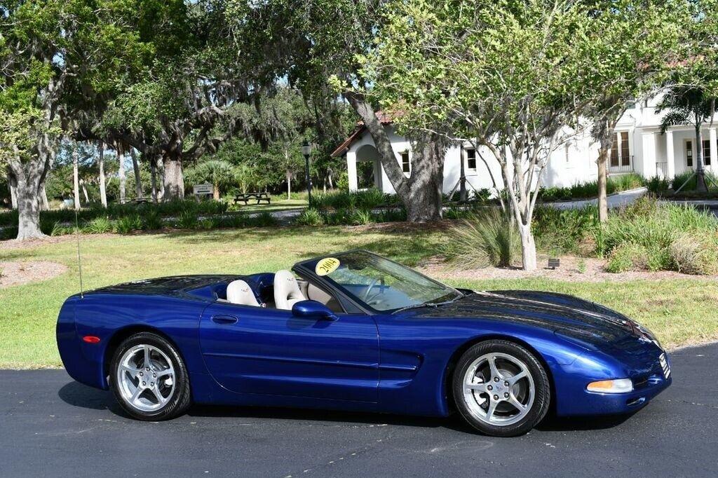 2004 Blue Chevrolet Corvette Convertible  | C5 Corvette Photo 8