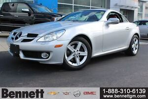 2009 Mercedes-Benz SLK-Class Hard Top Convertible with Red Leath
