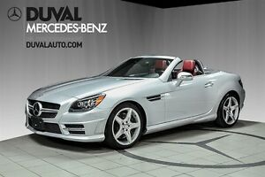 2014 Mercedes-Benz SLK-Class SLK350 + CUIR ROUGE / Distronic Plu