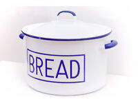 retro enaamel bread-bin