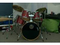 Mapex Mars Pro 6 piece Drum Kit with Stagg Cymbals