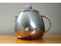 Small, 1-cup, 1-person teapot. Probably stainless steel, but unmarked. £1.