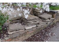 Reclaimed Paving slabs 450x450 600x600 / rubble - free.