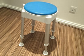 Shower Stool with Swivel Seat. Almost NEW
