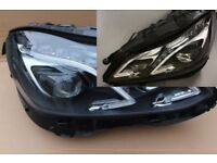 Pair of used Original Left hand drive Europe ILS LED xenon headlights Mercedes E W212 2013 -2017