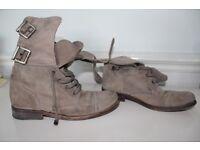 ALL SAINTS Leather unisex boots Size EU 38 UK 5