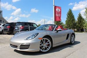 2013 Porsche Boxster LOOK INCROYABLE + CUIR ROUGE + 30 492 KM!!!
