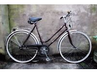 ASTRA, 22 inch large size, vintage ladies womens dutch style traditional road bike, 3 speed