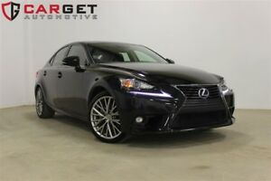 2015 Lexus IS 250 Low KM One owner Leather Navi Backup Cam 