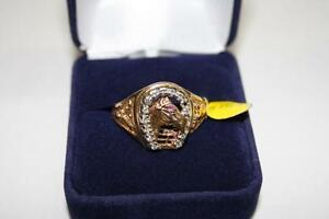 Chevalière en or Sertie Diamants