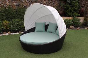 NEW!  Outdoor Wicker Daybed with SUNBRELLA.Free local delivery in Saskatoon and many surrounding areas.