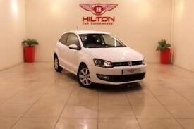 VOLKSWAGEN POLO 1.4 MATCH EDITION DSG 3d 83 BHP ONLY 2 PREVIOUS OW (white) 2014