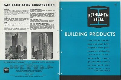 1947 Bethlehem Steel Building Products Structural Construction Building Catalog