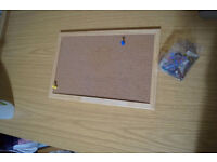 Office Noticeboard Cork with Pine Frame