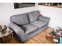 Fabric Sofa Bed - Charcoal