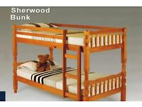 Amazon Pine Solid Wooden Bunk Bed with Mattress of Choice