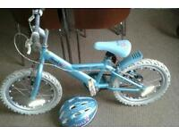 Sparkles bike and helmet.