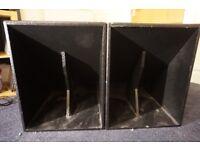 PA system unloaded HD15 kick bins