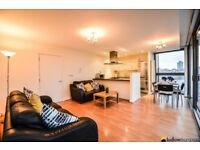 2 bed apartment with a large balcony in this secure development with concierge on the Limehouse Cut.
