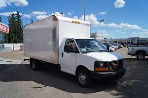 2015 GMC Savana 3500, 16' Cube Van, Ramp, A/C